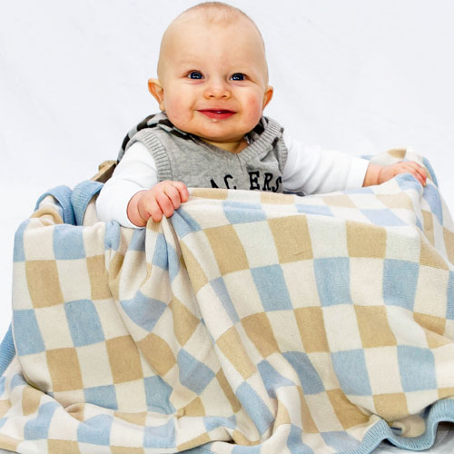 Checkerboard Cot Blanket