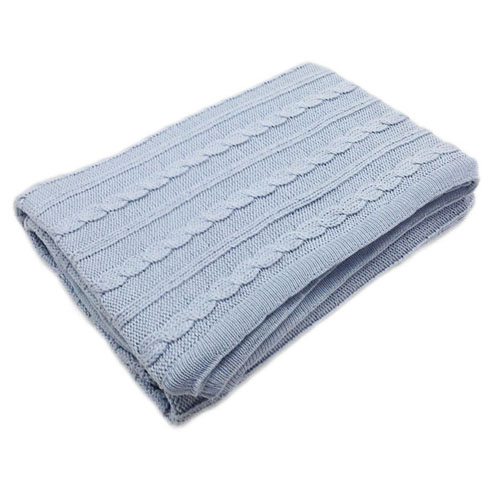 Cable Cot Blanket