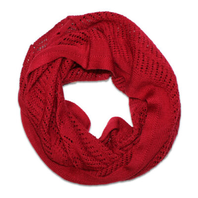 Australian Made, Australian Merino Wool Vintage Lace Looped Branberry Scarf in Sangria