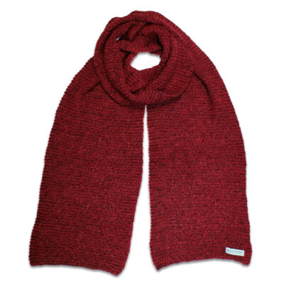 Australian Made, Alpaca & Australian Merino Wool Poppy Branberry Scarf in Autumn