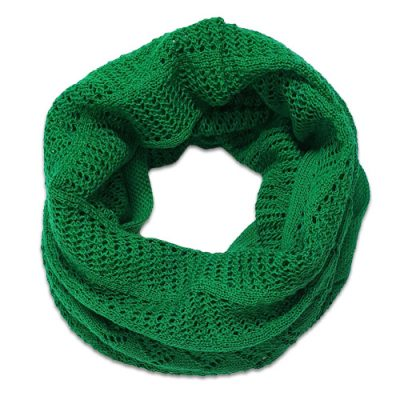Australian Made, Australian Merino Wool Vintage Lace Looped Branberry Scarf in Emerald