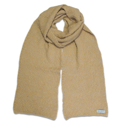 Australian Made, Alpaca & Australian Merino Wool Poppy Branberry Scarf in Honeycomb