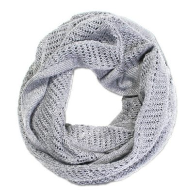 Australian Made, Australian Merino Wool Vintage Lace Looped Branberry Scarf in Smoke Grey
