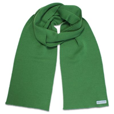 Branberry Merino Wool Scarf in Apple Green