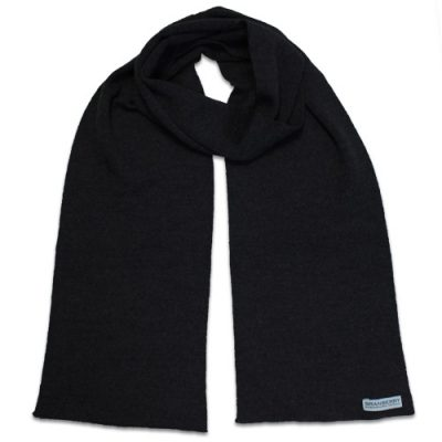 Branberry Merino Wool Scarf in Black