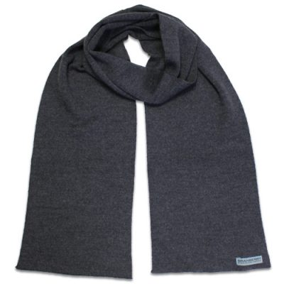 Branberry Merino Wool Scarf in Bond Grey