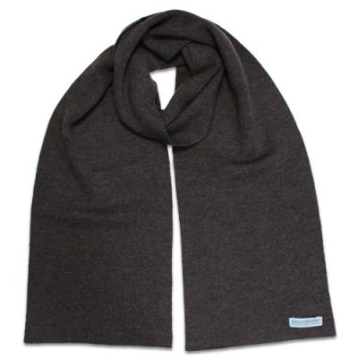 Branberry Merino Wool Scarf in Chocolate