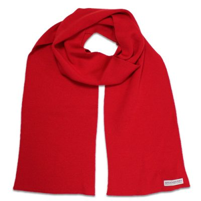 Branberry Merino Wool Scarf in Flame Red
