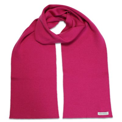 Branberry Merino Wool Scarf in Magenta Pink