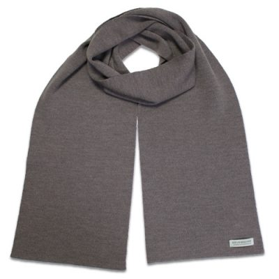 Branberry Merino Wool Scarf in Mocha