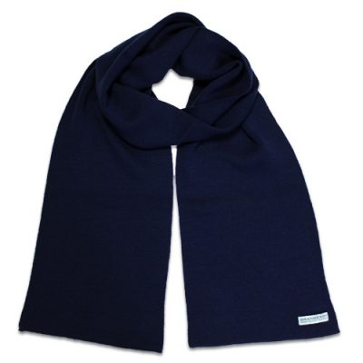 Branberry Merino Wool Scarf in Ink Navy