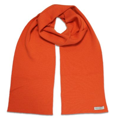 Branberry Merino Wool Scarf in Orange