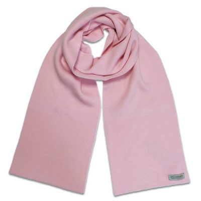 Branberry Merino Wool Scarf in Pale Pink
