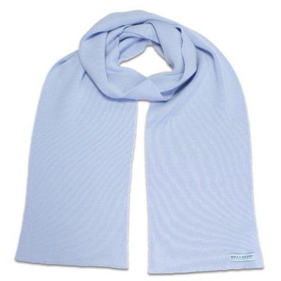 Branberry Merino Wool Scarf in Powder Blue