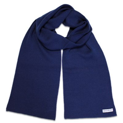 Branberry Merino Wool Scarf in Princeton Navy