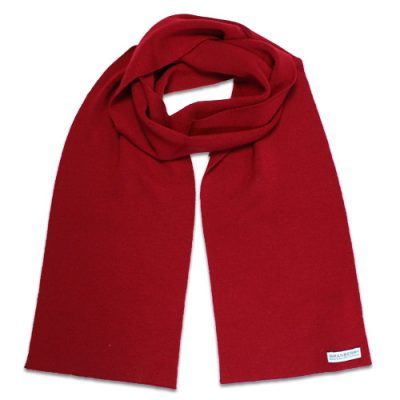 Branberry Merino Wool Scarf in Sangria Red