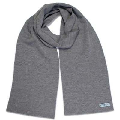 Branberry Merino Wool Scarf in Silver Grey