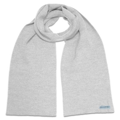 Branberry Plain Adult, Merino Wool Scarf in Smoke Grey