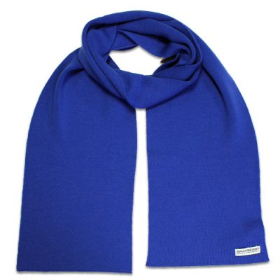 Branberry, Pure Merino Wool Plain Adult Scarf in Tahiti Blue