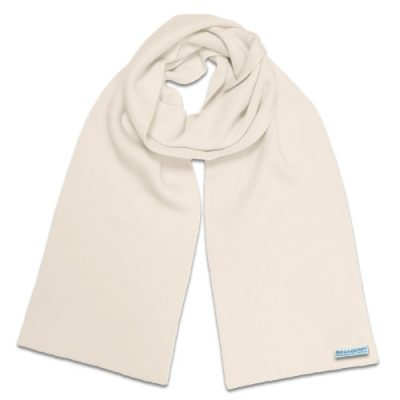 Branberry Merino Wool Scarf in White Magnolia