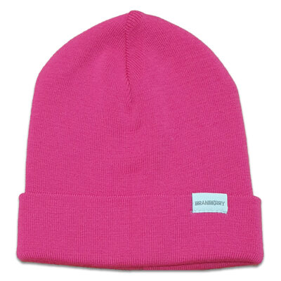 Australian Made, Australian Merino Wool Plain knit Adult Branberry Beanie in Magenta Pink