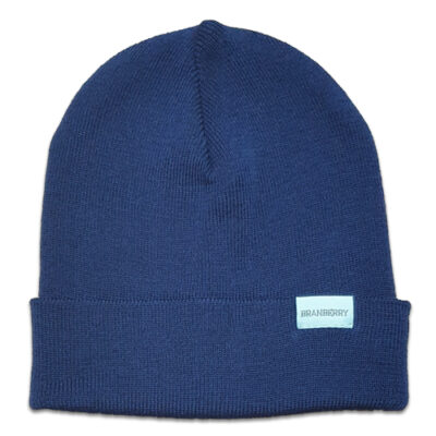 Australian Made, Australian Merino Wool Plain knit Adult Branberry Beanie in Princeton Navy